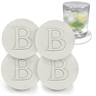 Drink Coaster set, Monogramed Letter B by McCarter Coasters (4pc)