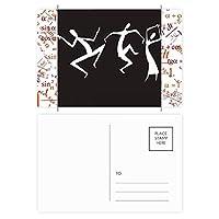 古代エジプトの抽象的な装飾的なパターン 公式ポストカードセットサンクスカード郵送側20個