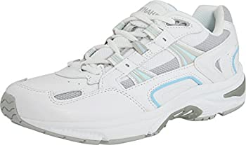 Vionic Women s White/Blue Orthaheel Walker Classic Shoes - 7 B M  US