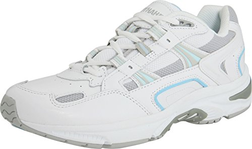 Vionic Women's White/Blue Orthaheel Walker Classic Shoes - 7 B(M) US