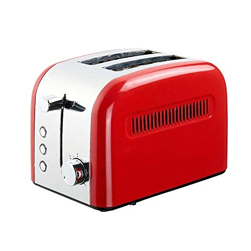 WCJ broodrooster, 800 W, 7 snelheden, ontdooien, verwarming en afbraakfunctie, automatische broodrooster, 2 broodrooster, kleine appa