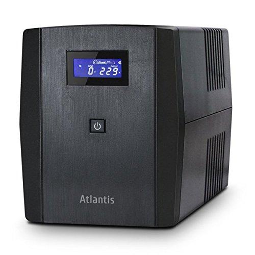 Atlantis OnePower 1200, UPS Line Interactive 1200VA/700W, AVR, Onda PseudoSinusoidale, 3 prese IEC+2 prese Schuko, 2 Batterie 12V 7Ah
