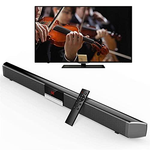 Altavoces de barra de sonido, soporte de barra de sonido universal con control remoto por infrarrojos 4 Altavoces 40W Soporte Entrada AUX Cable RCA de fibra óptica para montar en la pared Altavoz Blue