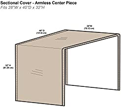 "Protective Covers Inc. Modular Sectional Sofa Cover, Armless Center Piece, 28""W x 40""D x 32""H, Tan - 1258-TN"