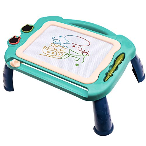 UOWGA Magnetic Drawing Board for Kids, Upgraded Writing Sketch Board Educational Learning Toys as Birthday Gifts for Baby Toddlers Age 2 3 4 5 Year Old (Light Blue)