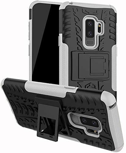 Capa Capinha Anti Impacto Para Samsung Galaxy S9+ S9 Plus com Tela de 6.2polegadas Case Armadura Hybrid Reforçada Com Desenho De Pneu - Danet (Preto com branco)