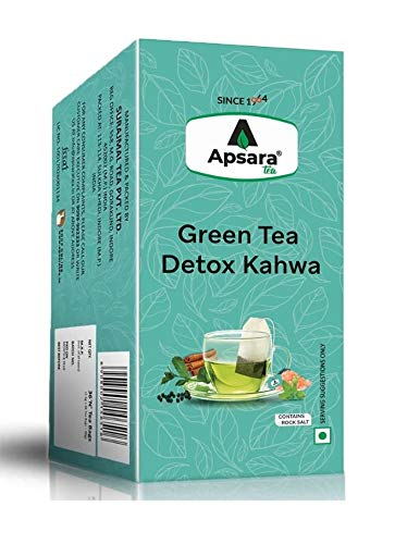 Apsara Tea Detox Kahwa Green Tea | Immunity Boosting Properties | Antioxidants Properties | 36 Tea Bag