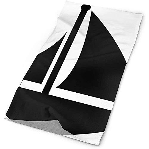 Quintion Robeson Schwarzes Boot Clipart Headwrap Unisex Multifunktionskopfbedeckung Polyester Soft Headband Neck Scarf, Premium Headdress Travel Magic Kopftuch