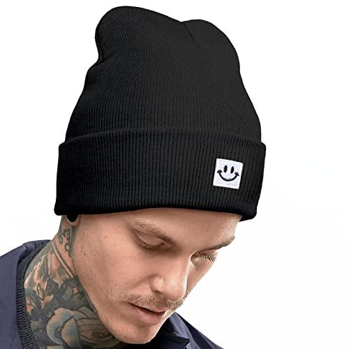 Beanie Hats for Men hat Slouchy Winter Hats Stocking caps for Men Black Winter hat Snow Hats for Men Fisherman Beanie Men's Novelty Beanies & Knit Hats Knit Hats with Brim