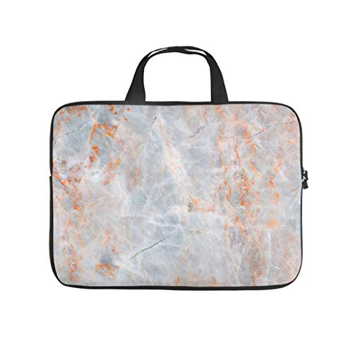 Waterproof Marble Texture Laptop Sleeve Case Protective Bag Carry On Handle Case -Modern Style for Work/Business/School/College/Travel white6 15 Zoll