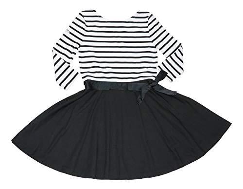 Polo Ralph Lauren Mädchen Langarmkleid gestreift und solide -  Schwarz -  Mittel
