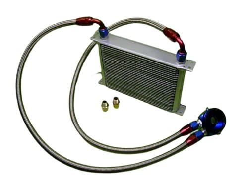 Burstflow Kit de reequipamiento universal para enfriador de aceite, 28 filas AN10