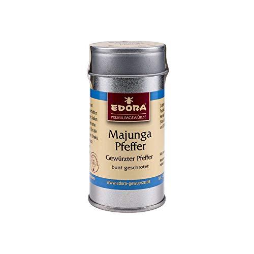 Premium Qualität Gewürz EDORA Streudose Streuer Majunga Pfeffer gewürzter Pfeffer bunt geschrotet 35 Gramm