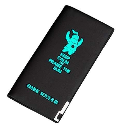WANHONGYUE Dark Souls Spiel Leuchtend Bifold Brieftasche Kunstleder Schlanke Geldbörse Portemonnaie Kreditkartenhülle /2