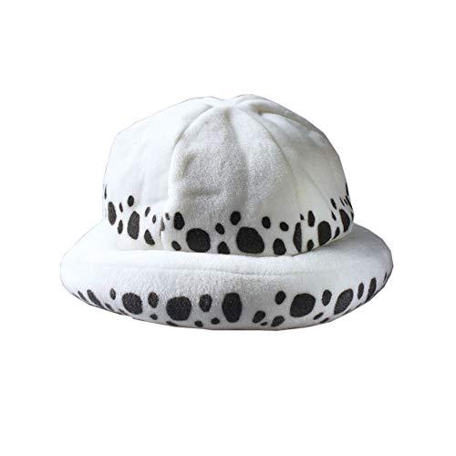 BellaPunk Erwachsene Trafalgar Hut Law weiße Hat Cosplay Kostüm für Halloween (Einheitsgröße, Farbe 01)