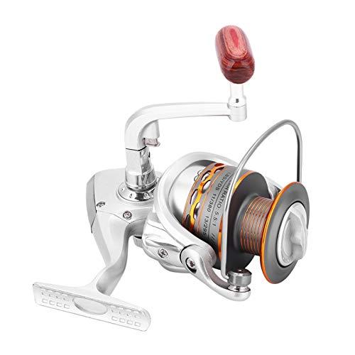 XINL Carretes giratorios, Carrete de Pesca, diseño Plegable, de Aluminio, apretón de Manos, Duradero para Pesca en el mar, Serie DX(4000)