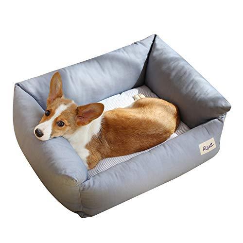 PETCUTE Cama Perro Mediano Suave Cama Gato Impermeable Cómoda Cama para Perros 2 en 1 Cojín Perros Sofá Lavable Perrera para Perros Pequeños/Grande