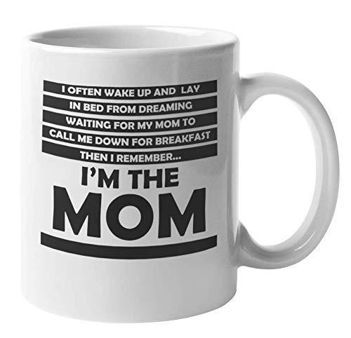 N\A Funny I Remember I 'm The Mom Taza de café y té para Nueva Madre (11 oz)