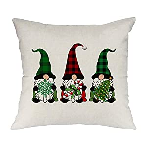 Christmas Gnomes Throw Pillow Case