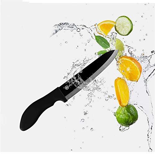 Haute qualité Couteaux en céramique Accessoires de cuisine simple lame noire Couteau de cuisine Couteau utilitaire Chef de cadeau couteau (Color : 4 inch)