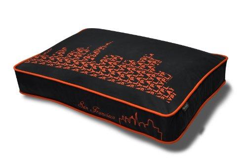 P.L.A.Y. PET LIFESTYLE AND YOU Lit rectangulaire Motif Paysage Orange Format Moyen