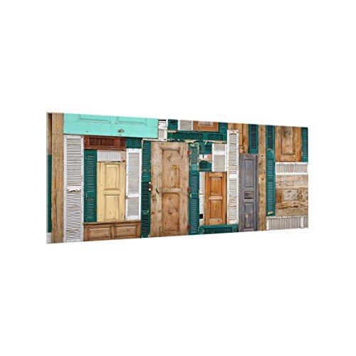 Bilderwelten Paraschizzi in Vetro - The Doors - Panoramico, Paraschizzi Cucina Pannello paraschizzi Cucina paraspruzzi per Piano Cottura Pannello per Parete Cucina, Misura (AxL): 40cm x 100cm