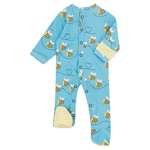 Piccalilly Pijama de bebé con pies, algodón orgánico libre de químicos, diseño de abeja unisex para bebé niño o niña