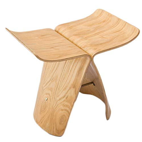 N/Z Home Equipment Footstool Curved Wood Craft Multifunction Portable Indoor Environmental Protection Gift (Color : C)