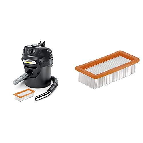 Kärcher Aspirador en seco y de ceniza AD 2 600W, 14L (1.629-711.0) + Filtro para aspiración en seco y ceniza (6.415-953.0)