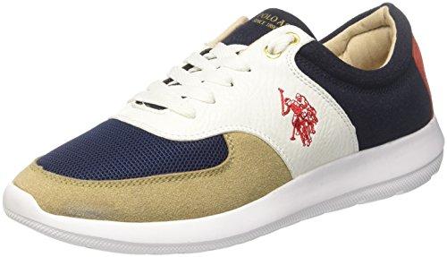 U.S.POLO ASSN. Tiziano, Baskets Homme, Multicolore (Sand-Jeans Sand-Jeans), 43 EU