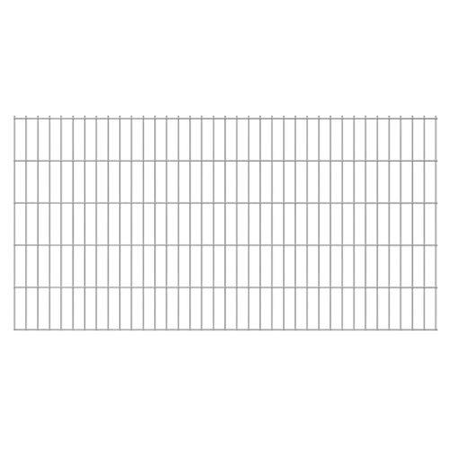vidaXL Panneau de clôture 2D pour Jardin 2008x1030 mm Argenté