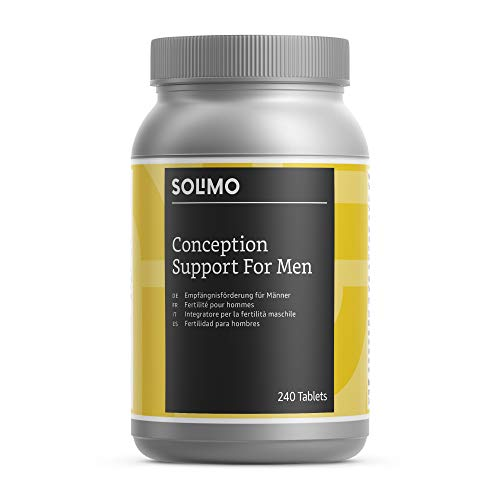 Amazon Brand - Solimo Conception Support For Men Multivitamins and Minerals Food Supplement, 240 Tablets
