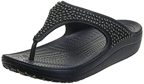 Crocs Tongs Femmes, Infradito Donna, Nero (Noire/Noire 060), 36/37 EU