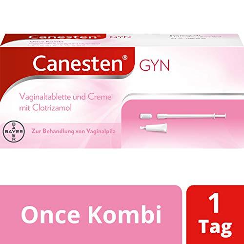 CANESTEN GYNOnceKombi,Vaginaltablette und Creme zur Behandlung von Scheidenpilz mitClotrimazol& Milchsäurezusatzschneller Rückgang der Symptome, 180 g