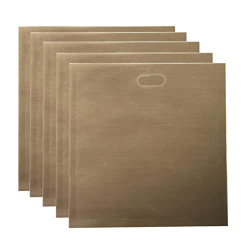 Bolsas de tostadora reutilizables, 5 unidades por paquete de teflones antiadherentes, bolsa de pan tostado, seguro en hornos tostadores, microondas