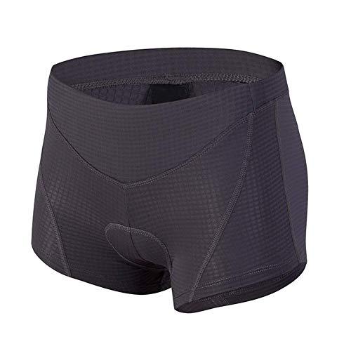 d.Stil Damen Fahrrad Unterhose Gel 4D mit Sitzpolster Atmungsaktiv für MTB Radsport Fahrrad Unterwäsche S - XL (Dunkelgrau, L)