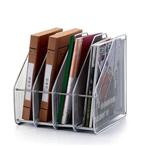 ZXNRTU Ahorro de Espacio Titular del Archivo de la Revista de Acero de Malla, Accesorios de Escritorio de Oficina Caja de Archivos Decorativos, Bastidor de Documentos para Archivos