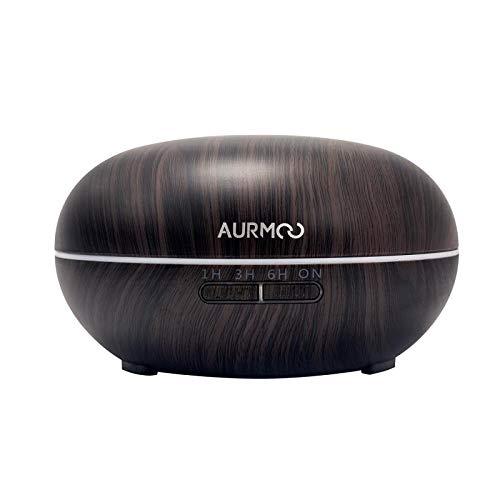 Diffusore di olio essenziale, diffusori 500 ml diffusore di aromaterapia, diffusore di Aromi ad ultrasuoni umidificatore con luci a LED a 7 colori e spegnimento automatico senza acqua.