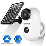 YESKAMO Solar Powered Battery Security Camera Waterproof, wireless 1080P ip Camera Outdoor Indoor