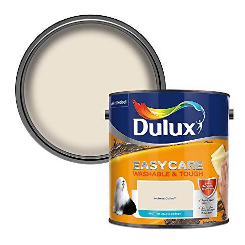 Dulux Easycare Washable & Tough Matt 2,5 l - Fassadenfarben (Farbe, Fertig gemischt, Zimmerdecke, Wand, Weiß, Matte Oberfläche, 2,5 l)