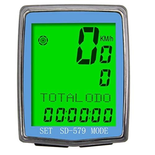 NEHARO Cuentakilómetros para Bicicleta Bici de la computadora del LCD exhibición Impermeable...
