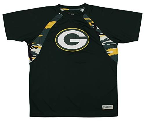 Zubaz NFL Men's Camo Solid T-Shirt, Green Bay Packers XX-Large
