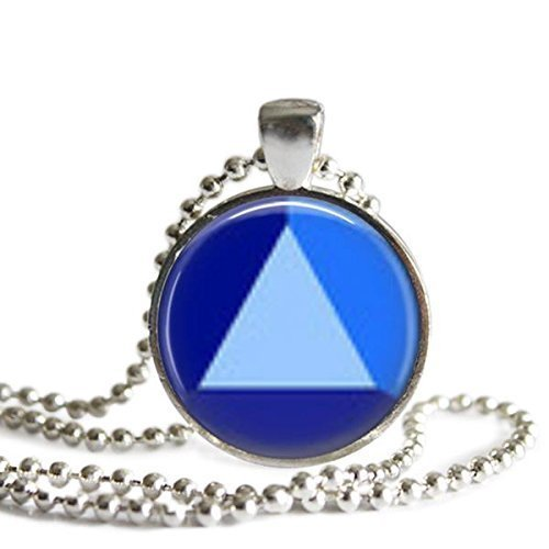 Steven Universe Sapphire Gem 1 inch Silver Plated Pendant Necklace