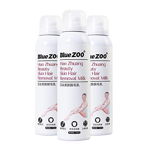 Enthaarungscreme, Haarentfernungscreme, Spray Hair Inhibitor,Hair Removal Cream,Schmerzlos Enthaarungsmittel auf Armen,Beinen,Achseln,Bikini,Lässt die Haut sanft(150ml)