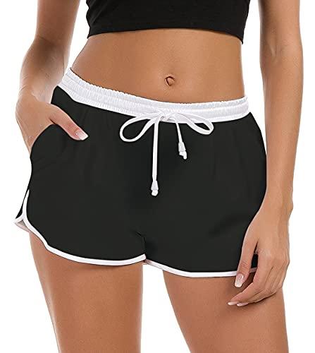 Fanient Boardshorts Donna Estate Pantaloni Corti Larghi Stampa 3D Pantaloni da Spiaggia hawaiani Pantaloni Bikini Ragazze L
