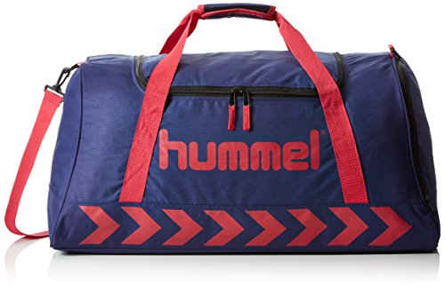 Hummel Kinder Tasche Authentic Sports Bag, Patriot Blue/Virtual Pink, 40 x 40 x 40 cm, 19 Liter