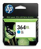 HP 364XL cartouche d'encre cyan grande capacité authentique pour HP DeskJet 3070A et HP Photosmart 5525/6525 (CB323EE)