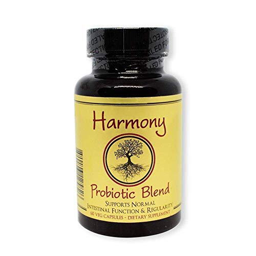Harmony Probiotic Blend for Women, Men, Kids - Best for Digestion, Mood, Weight Control, Skin, Sleep. Featured in Wellness Magazine - No Refrigeration- Non-GMO, No Gluten, Dairy or Soy. Cert. Kosher.