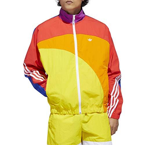 adidas Originals mens Pride Off-Centre Jacket Multicolor/White Medium