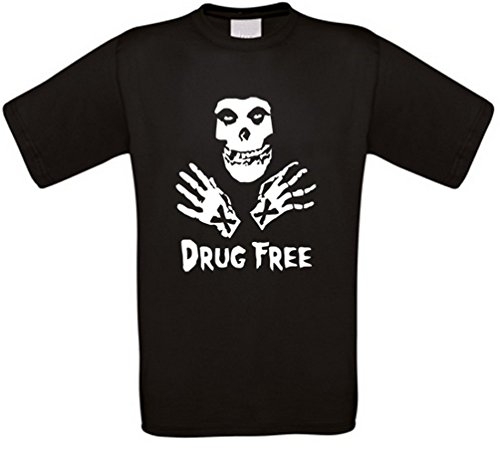 Drug Free Straight Edge Punk XXX SXE Hardcore T-Shirt (M)